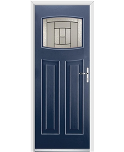 Ultimate Newark Rockdoor in Sapphire Blue with Citadel Glazing