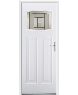 Ultimate Newark Rockdoor in White with Citadel Glazing