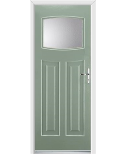 Ultimate Newark Rockdoor in Chartwell Green with Glazing