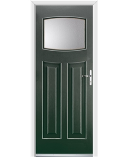 Ultimate Newark Rockdoor in Emerald Green with Glazing