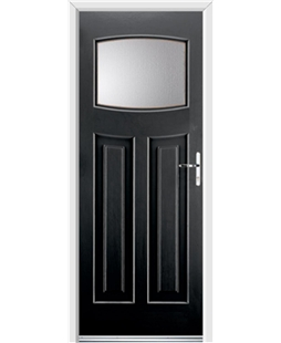 Ultimate Newark Rockdoor in Onyx with Glazing