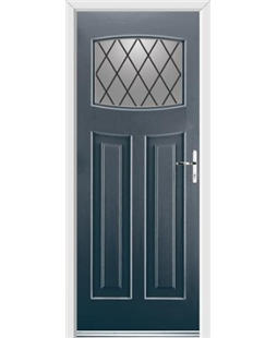 Ultimate Newark Rockdoor in Anthracite Grey with Diamond Lead