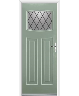 Ultimate Newark Rockdoor in Chartwell Green with Diamond Lead