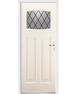 Ultimate Newark Rockdoor in Cream with Diamond Lead