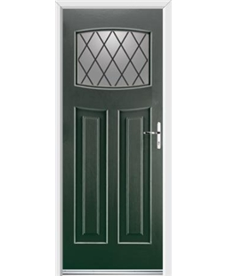 Ultimate Newark Rockdoor in Emerald Green with Diamond Lead