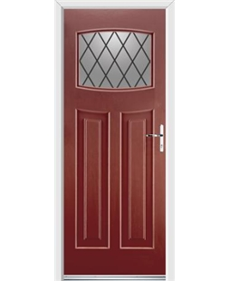 Ultimate Newark Rockdoor in Ruby Red with Diamond Lead