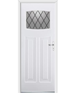 Ultimate Newark Rockdoor in White with Diamond Lead