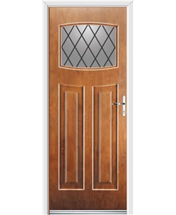 Ultimate Newark Rockdoor in Light Oak with Diamond Lead