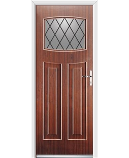 Ultimate Newark Rockdoor in Mahogany with Diamond Lead