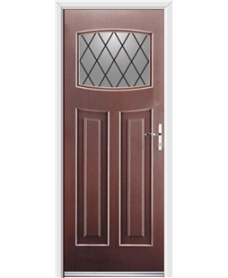 Ultimate Newark Rockdoor in Rosewood with Diamond Lead