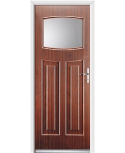 Ultimate Newark Rockdoor in Mahogany with Glazing