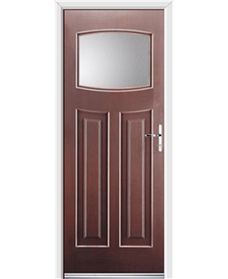 Ultimate Newark Rockdoor in Rosewood with Glazing