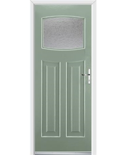 Ultimate Newark Rockdoor in Chartwell Green with Gluechip Glazing
