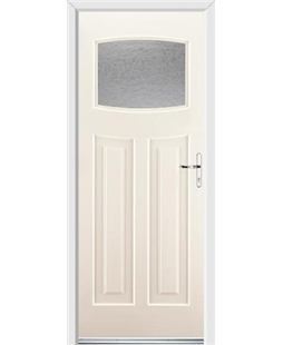 Ultimate Newark Rockdoor in Cream with Gluechip Glazing