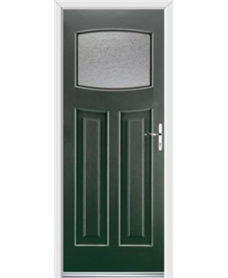 Ultimate Newark Rockdoor in Emerald Green with Gluechip Glazing