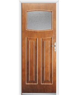 Ultimate Newark Rockdoor in Light Oak with Gluechip Glazing