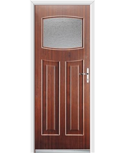 Ultimate Newark Rockdoor in Mahogany with Gluechip Glazing