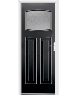 Ultimate Newark Rockdoor in Onyx with Gluechip Glazing
