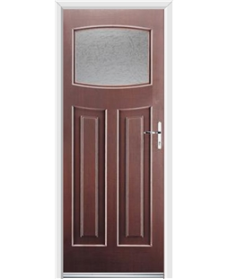 Ultimate Newark Rockdoor in Rosewood with Gluechip Glazing