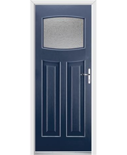 Ultimate Newark Rockdoor in Sapphire Blue with Gluechip Glazing