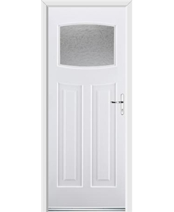 Ultimate Newark Rockdoor in White with Gluechip Glazing