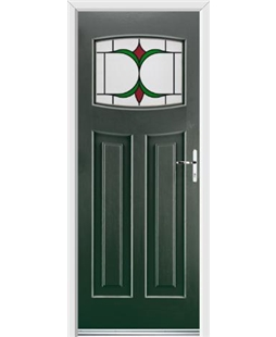 Ultimate Newark Rockdoor in Emerald Green with Jubilee Glazing