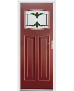 Ultimate Newark Rockdoor in Ruby Red with Jubilee Glazing