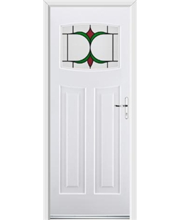 Ultimate Newark Rockdoor in White with Jubilee Glazing
