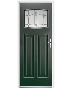 Ultimate Newark Rockdoor in Emerald Green with Lantern Glazing