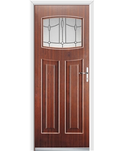 Ultimate Newark Rockdoor in Mahogany with Lantern Glazing