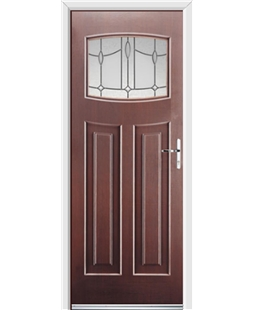 Ultimate Newark Rockdoor in Rosewood with Lantern Glazing