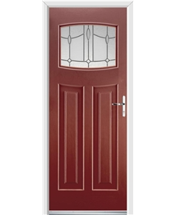 Ultimate Newark Rockdoor in Ruby Red with Lantern Glazing