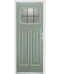 Ultimate Newark Rockdoor in Chartwell Green with Square Lead