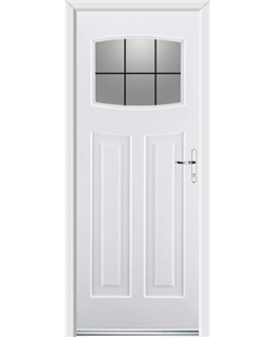 Ultimate Newark Rockdoor in White with Square Lead