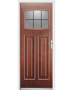 Ultimate Newark Rockdoor in Mahogany with Square Lead