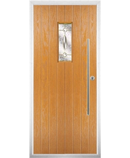 The Zetland Composite Door in Oak with Clarity Elegance