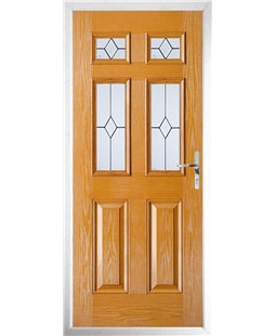The Oxford Composite Door in Oak with Classic Glazing