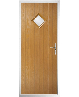 The Reading Composite Door in Oak with Clear Glazing