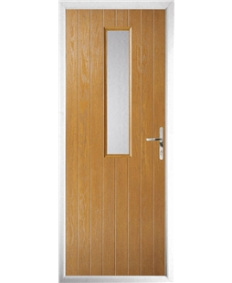 The Sheffield Composite Door in Oak with Clear Glazing