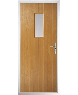The Taunton Composite Door in Oak with Clear Glazing