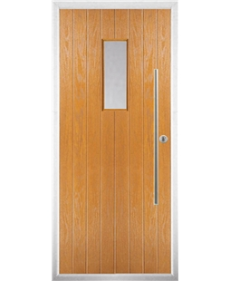 The Zetland Composite Door in Oak with Clear Glazing