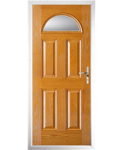 The Derby Composite Door in Oak with Clear Glazing