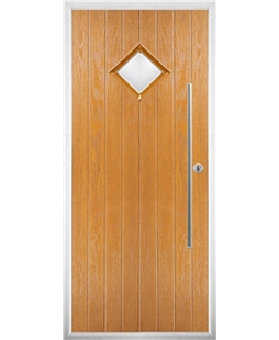 The Wolverhampton Composite Door in Oak with Glazing