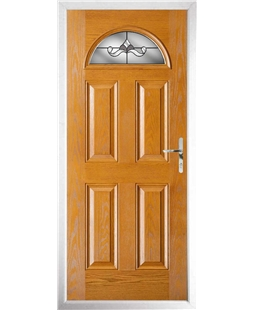The Derby Composite Door in Oak with Crystal Bohemia Frost