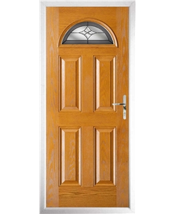 The Derby Composite Door in Oak with Crystal Harmony Frost
