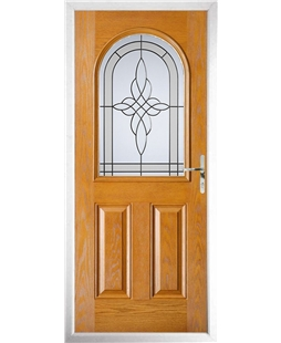 The Edinburgh Composite Door in Oak with Crystal Harmony Frost