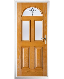 The Glasgow Composite Door in Oak with Crystal Tulip Arch