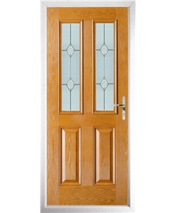 The Cardiff Composite Door in Oak with Classic Glazing
