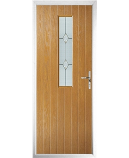 The Sheffield Composite Door in Oak with Classic Glazing