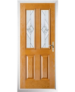 The Cardiff Composite Door in Oak with Eclipse Glazing
